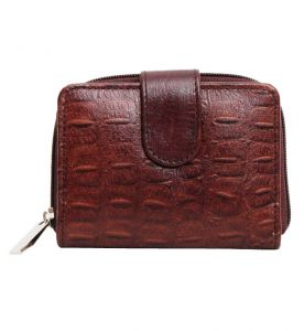 Lustrous Brown Croc Embossed Wallet  ― Online Stationery Store